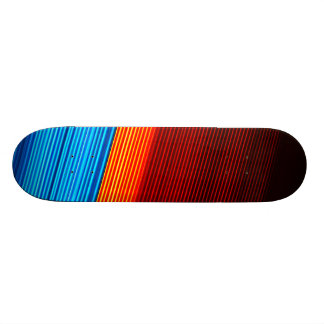 COOL Blue Orange Yellow Red Black Stripes Skateboard Deck
