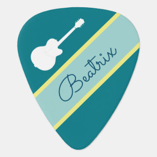 cool & blue, personalized rock pick