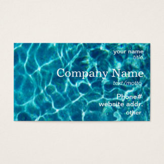 Cool Blue Pool Water Business Card