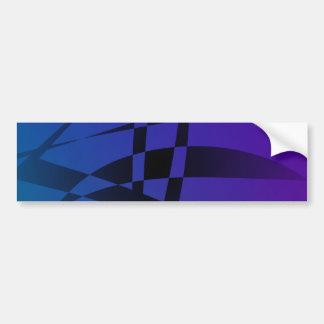 Cool Blue Purple Black Abstract Bumper Sticker