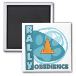 Cool Blue Rally Obedience Square Magnet