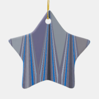 Cool Blue Seamless Design Ceramic Star Ornament
