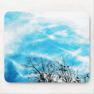 Cool Blue Sky Mouse Pad