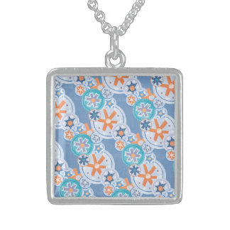 Cool Blue Snowflakes Winter Christmas Holiday Snow Custom Necklace