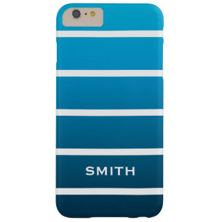 Cool Blue Stripes Barely There iPhone 6 Plus Case