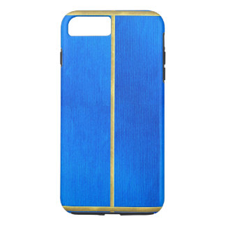 Cool Blue Suede Texture Gold Tipped iPhone Case