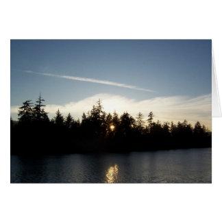 Cool Blue Sunset Card