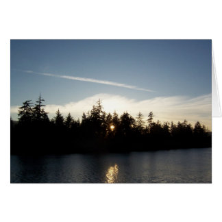 Cool Blue Sunset Note Card