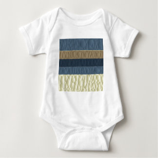 Cool Blue Taupe Color Pallet Quilted Baby Bodysuit