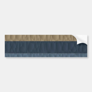 Cool Blue Taupe Color Pallet Quilted Bumper Sticker