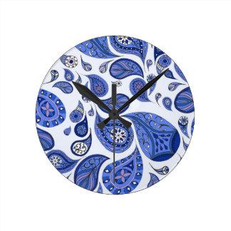 Cool Blue Teardrops Clock