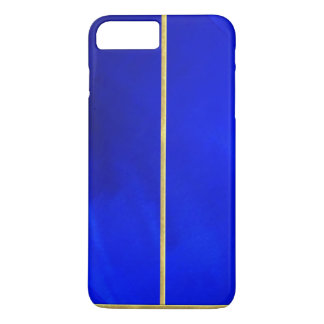 Cool Blue Texture Gold Tipped iPhone 7 Plus Case