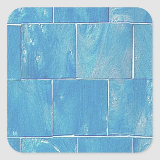 Cool Blue Tile Square Sticker