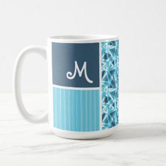 Cool Blue Triangle Pattern Coffee Mug