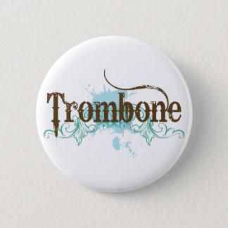 Cool Blue Trombone Button
