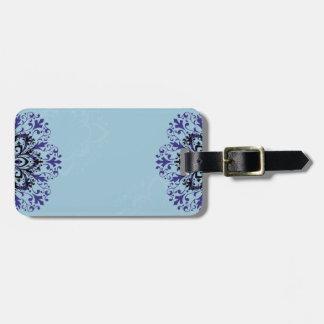Cool blue vintage luggage tag design
