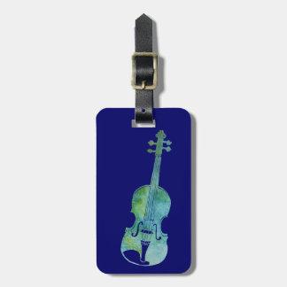 Cool Blue Violin Luggage Tag