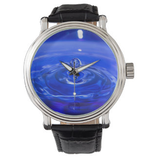 Cool Blue Water Droplet Watch