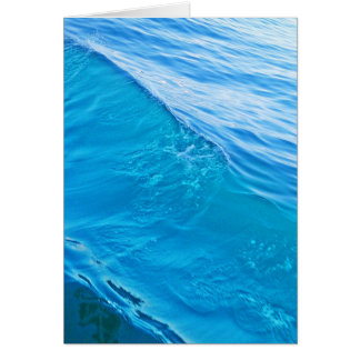 Cool blue water wave card