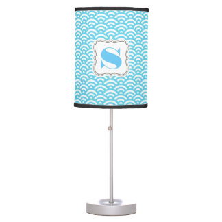 Cool Blue Waves Table Lamp