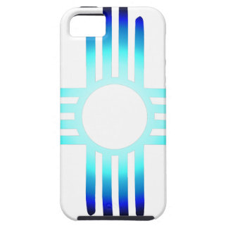 Cool Blue Zia iPhone 5 Cover