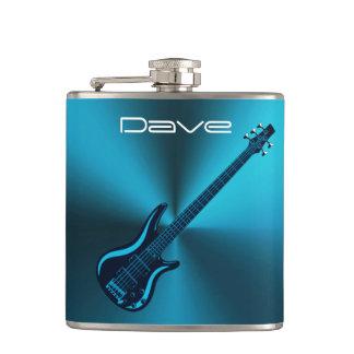 Cool Blues Electric Guitar Custom Music Flask