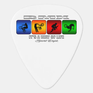 Cool BMX It Is A Way Of Life Guitar Pick