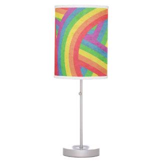 Cool Bohemian Faded Rainbow Stripes Table Lamp