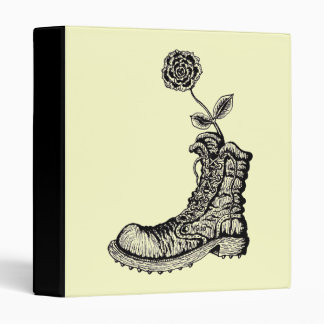 Cool boot with flower binder design