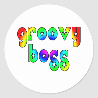 Cool Bosses Office Christmas Parties : Groovy Boss Round Sticker