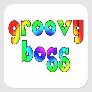 Cool Bosses Office Christmas Parties : Groovy Boss Square Sticker