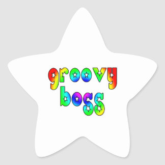 Cool Bosses Office Christmas Parties : Groovy Boss Star Sticker