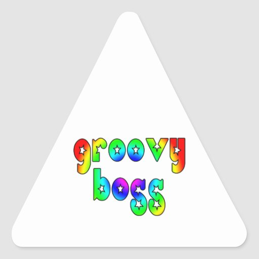 Cool Bosses Office Christmas Parties : Groovy Boss Triangle Sticker