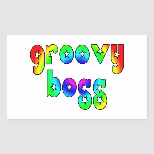 Cool Bosses Office Christmas Parties : Groovy Boss Rectangle Sticker