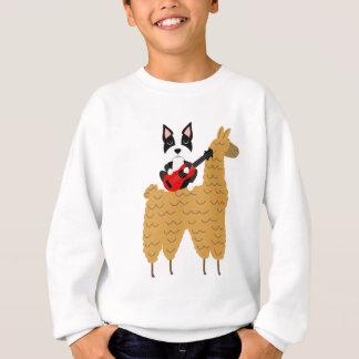Cool Boston Terrier Playing Guitar Sweatshirt
