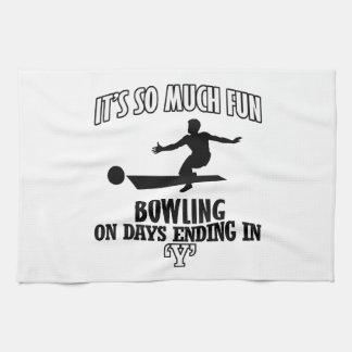 cool Bowling DESIGNS Towels
