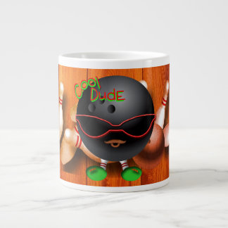 Cool bowling dude large coffee mug