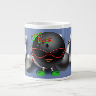 Cool bowling dude large coffee mug