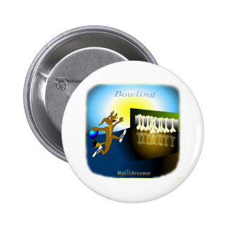 Cool Bowling gifts for kids 2 Inch Round Button
