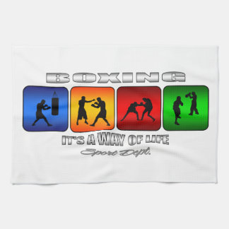 Cool Boxing It Is A Way Of Life Kitchen Towel