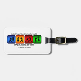 Cool Boxing It Is A Way Of Life Luggage Tag
