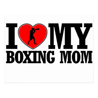 cool Boxing  mom designs Postcard
