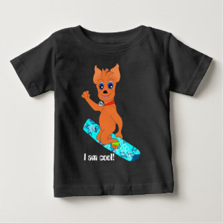 Cool Boy's Clothes - Happy Snowboarding Baby T-Shirt