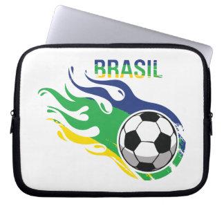 Cool Brasil Futebol Laptop Sleeve
