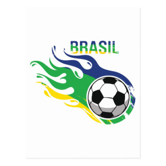 Cool Brasil Futebol Postcard
