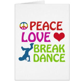 Cool Break dance designs Card