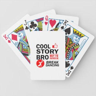 Cool break dancing designs bicycle playing cards