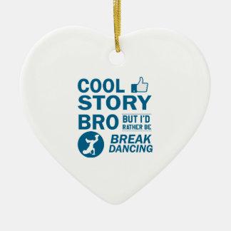 Cool break dancing designs ceramic ornament