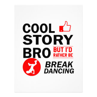 Cool break dancing designs letterhead