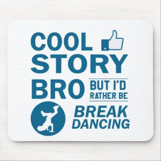 Cool break dancing designs mouse pad